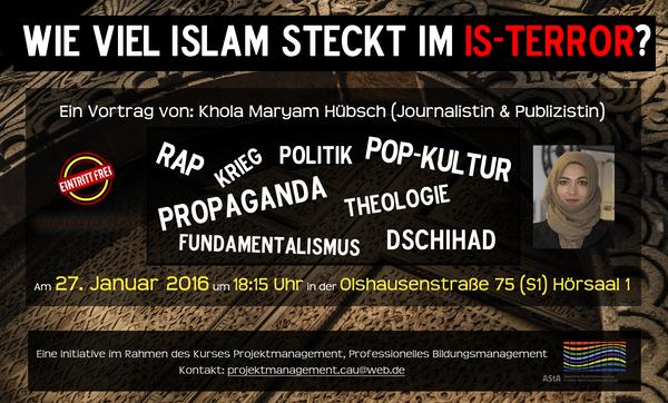 Vortrag: Wieviel Islam steckt im IS-Terror?
