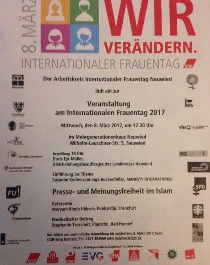 Vortrag: Presse- und Meinungsfreiheit im Islam